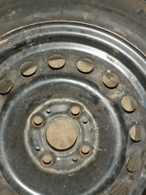 Bmw e30 standard steel wheels.
