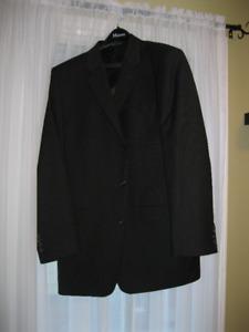 Men's Black Pinstripe Suit