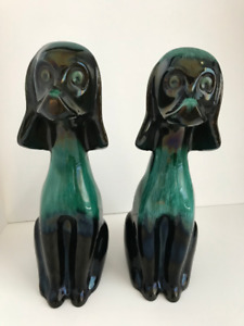 Blue Mountain Pottery Dog Statues
