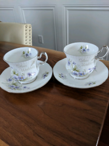 "Queen's ""Silver Wedding"" Tea Cup and Saucer"