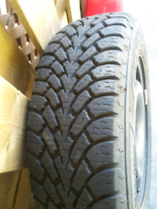 2 Goodyesr Nordic Snow Tires with Rims