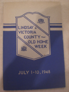 "Book ""Lindsay and Victoria County Old Home Week July 1-10, 1948"""