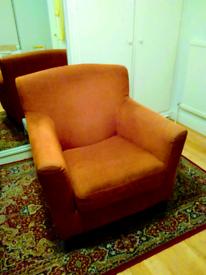 Ikea retro funky orange armchair