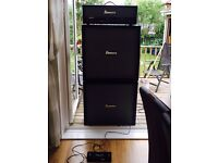 Ibanez toneblaster 100h amp with TB412A Angled cab and TB412 straight cab
