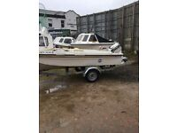 fishing boat full set up lots extras 15 ft