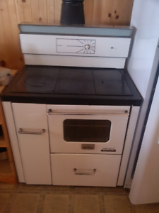 Fawcett, oil fired cook stove