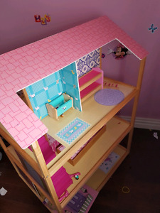 Double sided wooden Barbie house