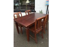 Hardwood Table & Chairs