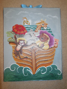 Hand Painted - Noah's Ark Painting