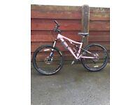 Ladies Gary fisher full suss mountain bike