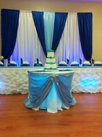 Party Rental tables,table cloths,chair,chair cover for rent