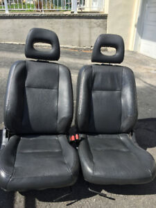civic leather seats sieges cuir 1995-2000 complet noir
