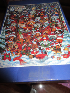 """Vintage F.X. Schmid 500 Piece Christmas Holiday Puzzle"