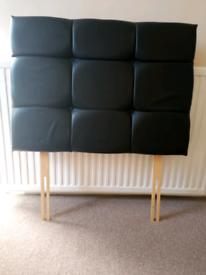 Single bed headboard black leather £5 each