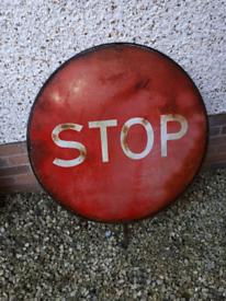 Vintage large stop go sign