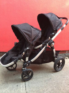 Poussette double Baby Jogger City Select - Excellente condition