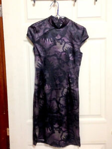 Tunic-style Dress with Mandarin Collar for Sale (size: XS-S)