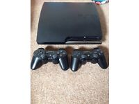 PS3 games console + 19 games