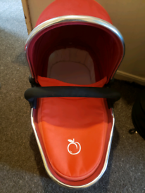 I candy peach tomato lower carry cot with bumper bar