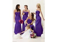 Purple Bridesmaid Dresses Evening Ball Party Prom Formal Wedding - BRAND NEW