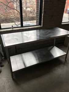 Industrial Kitchen Chef's Prep Table