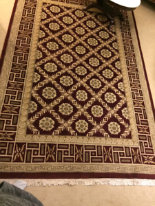 Roman Rug Pattern with Florets $100