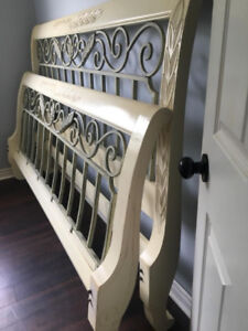 King bed headboard footboard side rails 2 nightstands