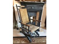 Antique Victorian American Walnut Rocking Chair,Occasional Chair, Delivery, Offers