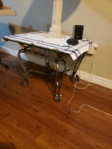 Glass table and end tables
