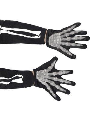 Skelett Handschuhe Kinder zum Skelettkostüm Halloween