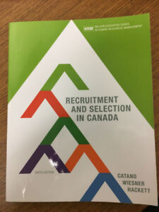 Recruitment and Selection in Canada, 6th edition