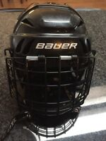 Bauer hockey helmet with cage size 6- 61/2
