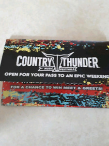 2 Craven Country Thunder 4 DAY Wristbands