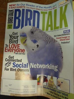 *BIRD TALK MAGAZINE Jan 11 Australian Parrots Diet Cockatoos Budgies Cockatiels