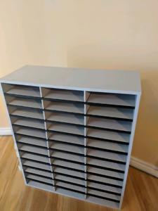 Paper Organizer Shelf