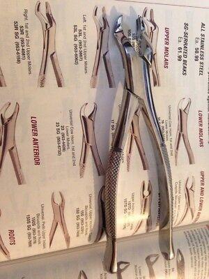 Hu-friedy 53l Dental Extraction Forceps Lot Of 2 Upper Molar Forcep