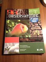 Cahier d'exercice Observatoire L'environnement