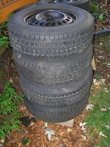 Four Used Uniroyal Tiger Paw Snow Tires From 04 Buick Century