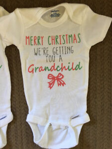 Xmas - We're getting you a grandchild onesies