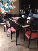 Dinec Dining set with hutch and chairs from Schreiters Furniture
