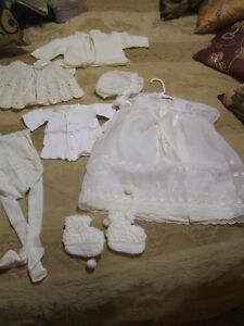 Christening or Baptism gown and under garments for baby
