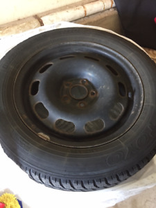 FS Prius snow tires on steel rims