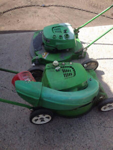 3 Different Lawnmowers - 2 Work - Selling for parts as Lot Sale