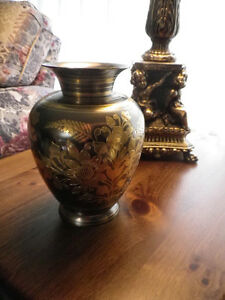 Solid Brass Lacquered Vase