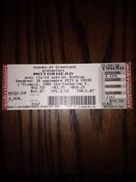 Ticket/billets Motörhead Olympia 18septembre (sold out)