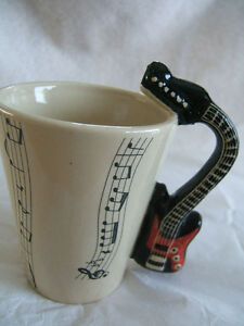 Musical Notes & Acoustic Guitar coffee mug - Great Gift