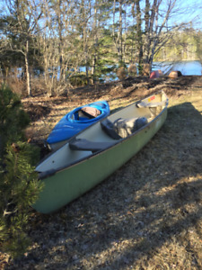 Coleman canoe and pelican kayak for sale with accessories SOLD