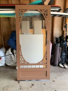 Solid wood screen door