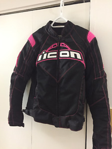 ICON XS pink and black women's jacket