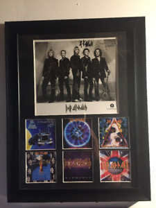 DEF LEPPARD SIGNED Custom Framed promo (+100's more available)